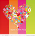 Vector HEART Flowers