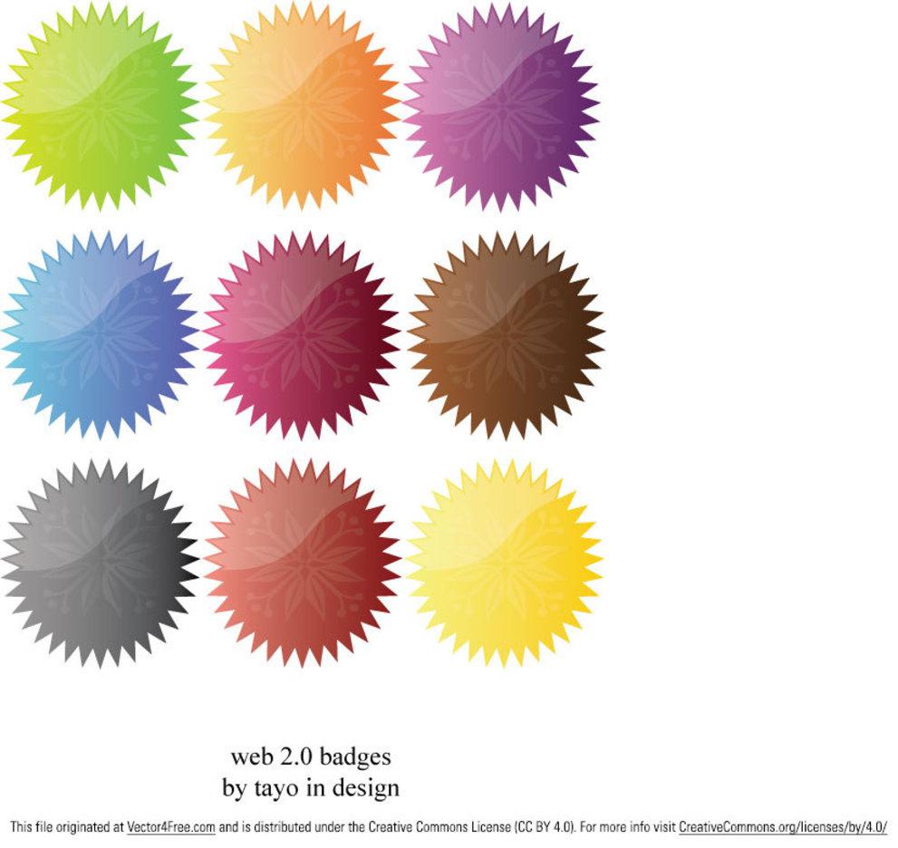 Web 2.0 ornaments badges