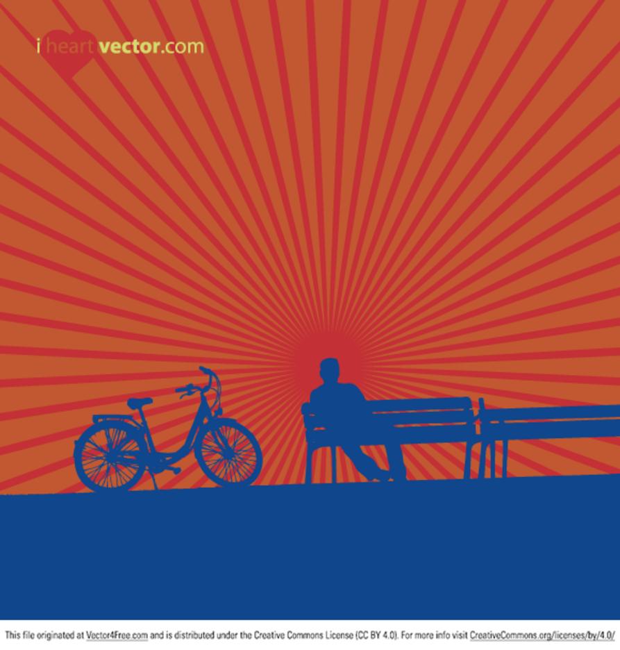 Bike Bench Vector