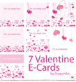 For my Sweet Love Valentine E-Cards Vector