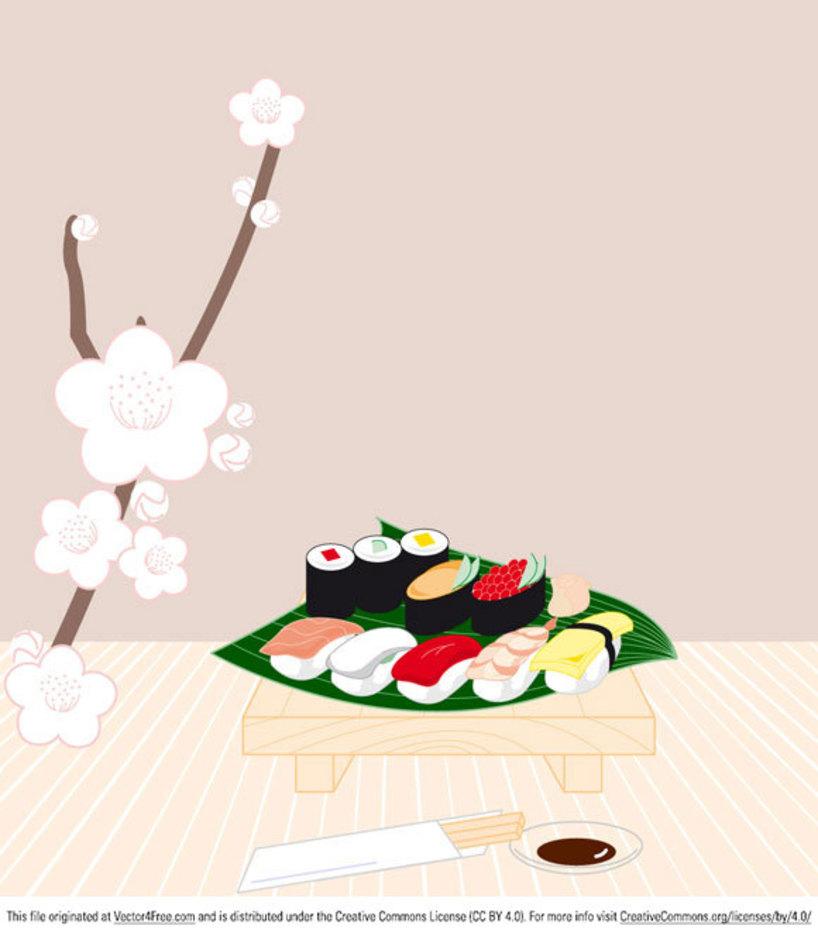 Sushi Vector Graphics