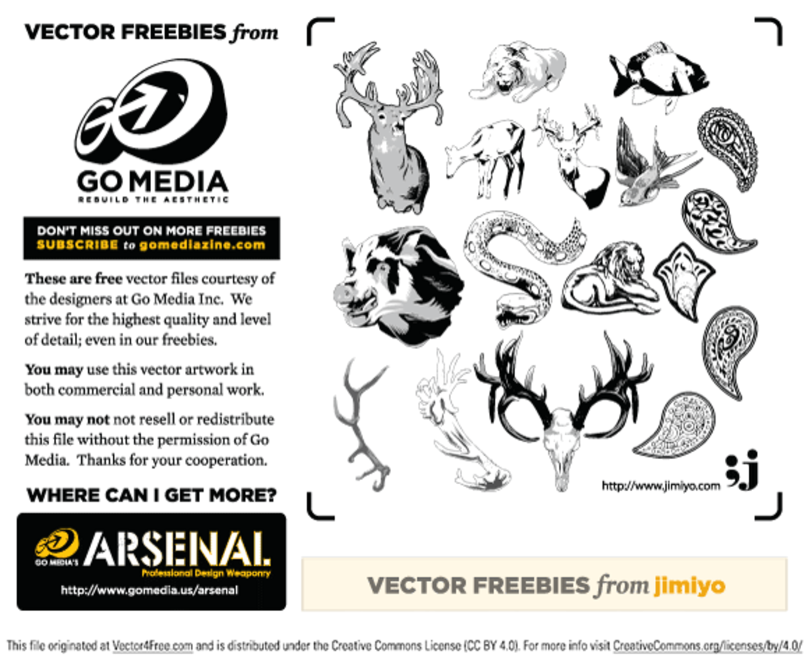 Vector Freebie from jimiyo: Animals