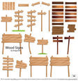 Wood Signs Vector Set