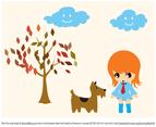 Aiki Walking Her Doggie