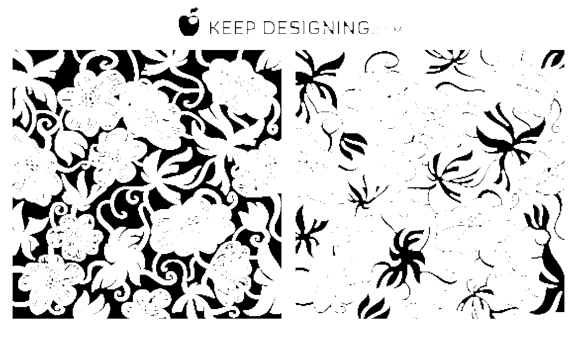 European Art Deco Floral Vectors