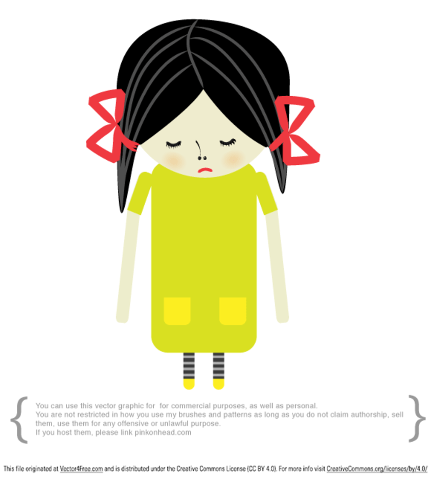 Sad Girl Vector