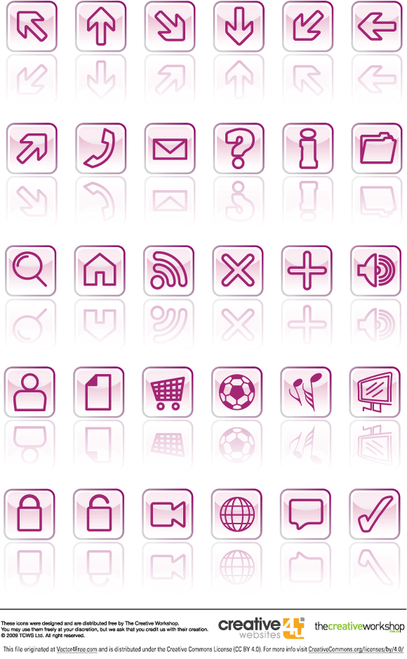 Glassy Vector Icons