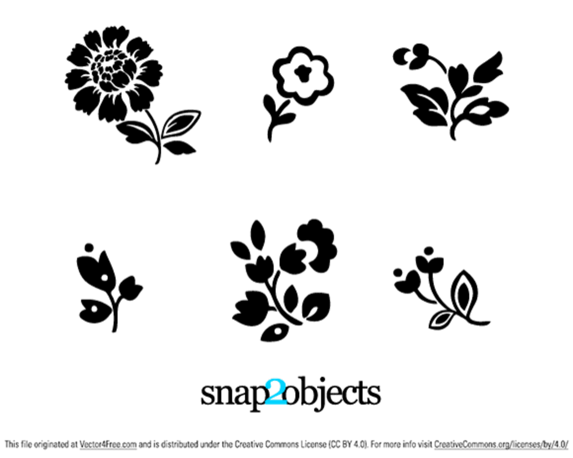 6 Floral Vector