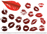 Vector Lips Kiss