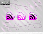 Pink Vector RSS Icons
