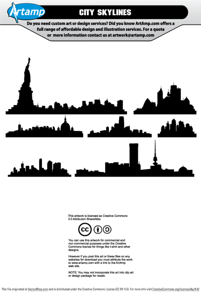 Free Vector City Skylines
