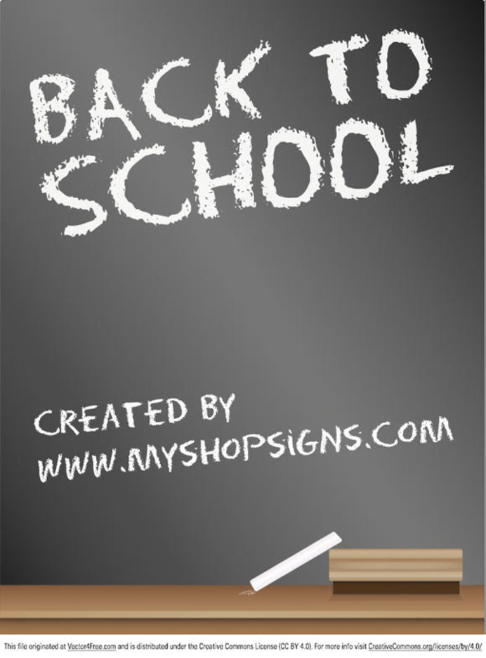 Back to School Blackboard Sign