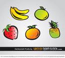 Cartoonish Fruits Vector