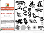 Mixed Elements Free Vector Pack-1