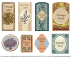 Vintage Floral Vector Labels