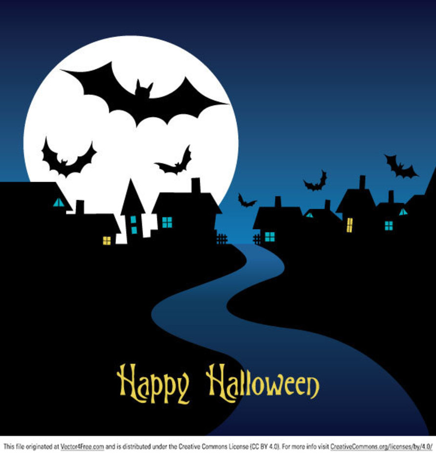 Halloween Night Card Vector