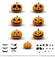 Scary Halloween Pumpkins Vector