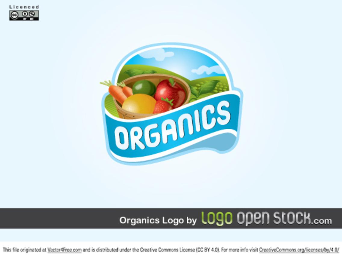 Organics Logo Vector Design