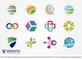 Mixed Logo Vector Design Elements