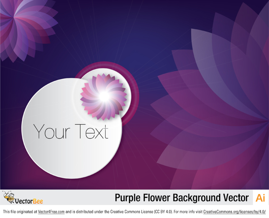 Purple Flower Background Vector