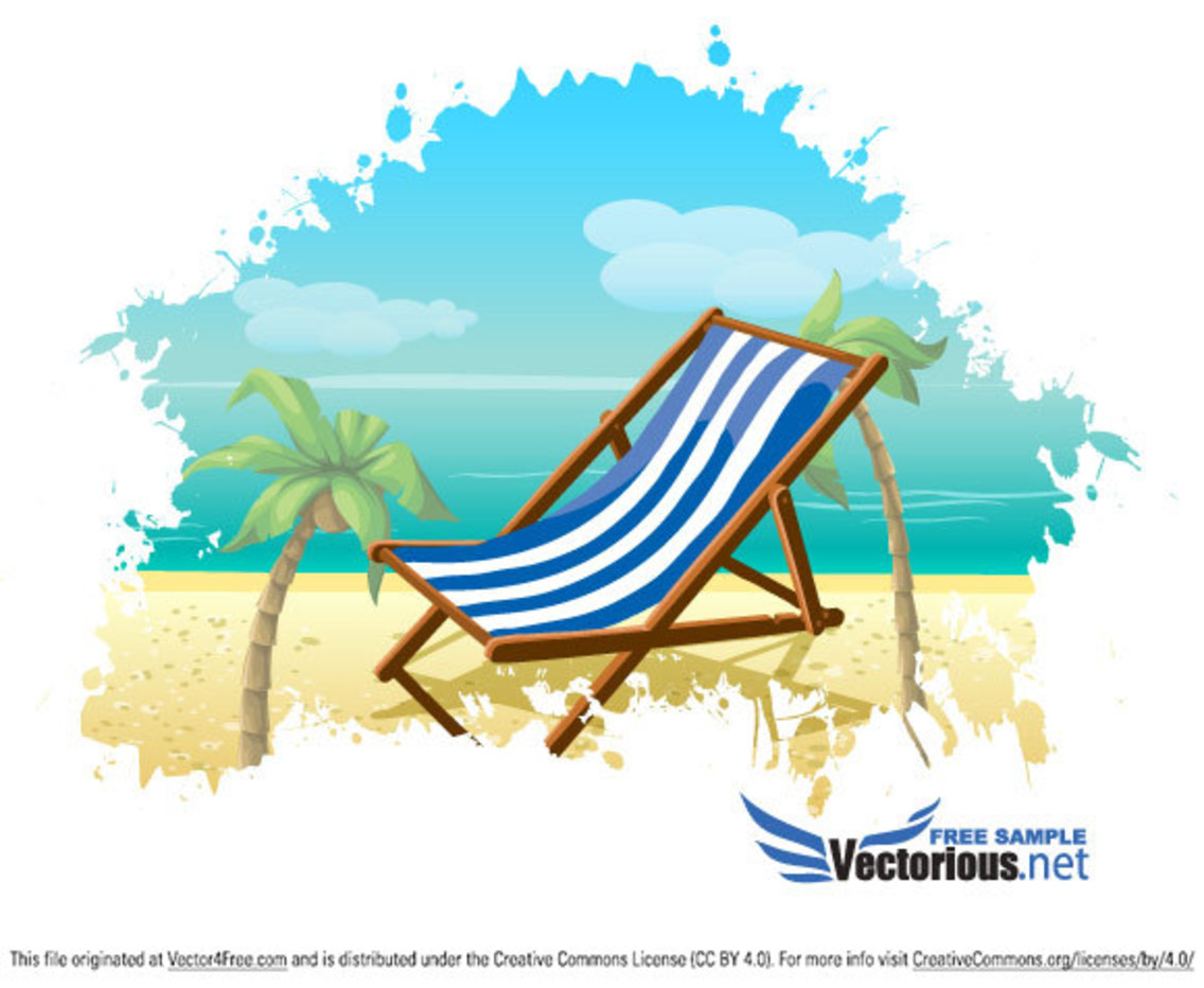 Summer Beach Vector Background