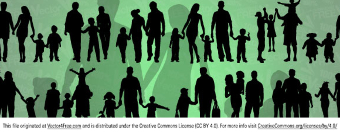 Vector of Family Silhouettes