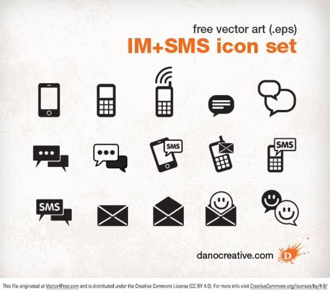 Instant Messenger SMS Icon set