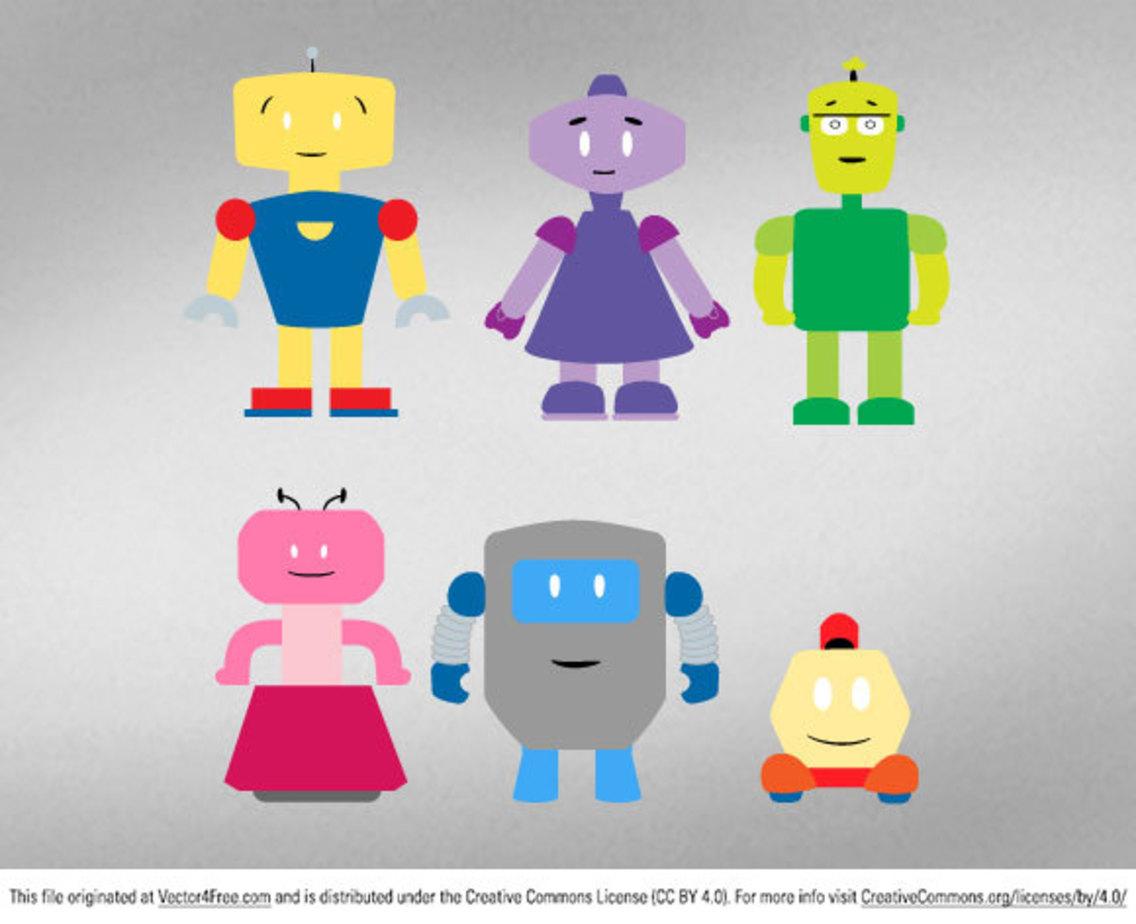 Fibers.com Cute Robots