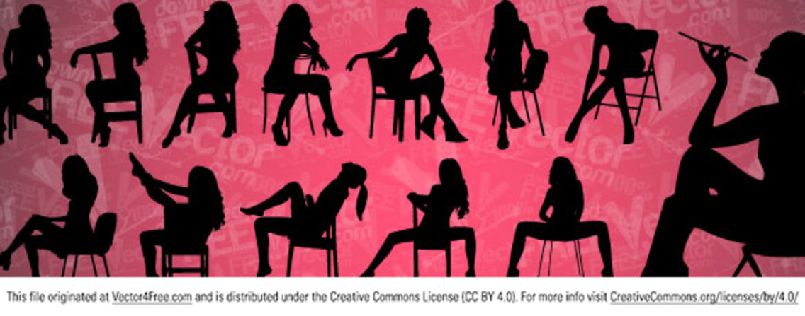 Vector Sitting Girls