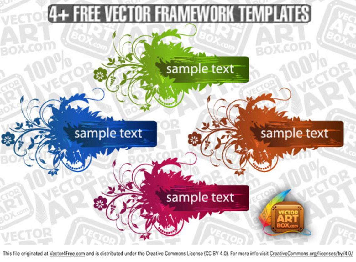 Useful Free Vector Flourish Framework Template