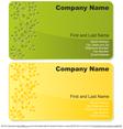 Floral business card set