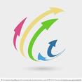 3D Arrows Logo Concept