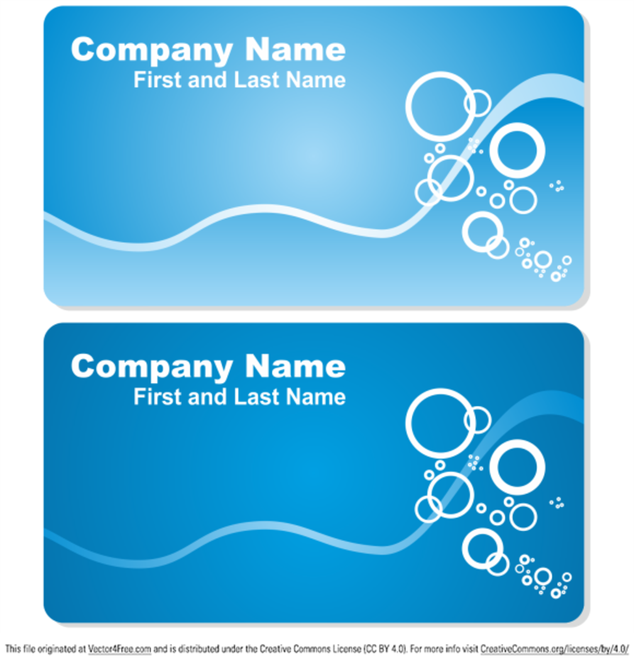 Sea business card set