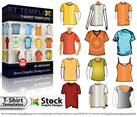 T-Shirt Template Free Vector Pack