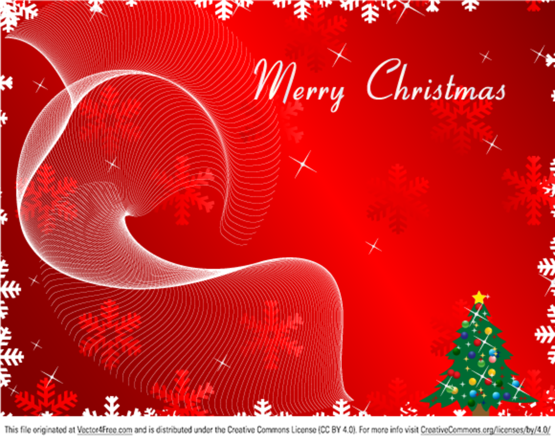 Christmas Card Background.Merry Christmas Greeting Card On Red Background Vector