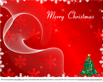 Merry Christmas Greeting Card on Red Background Vector