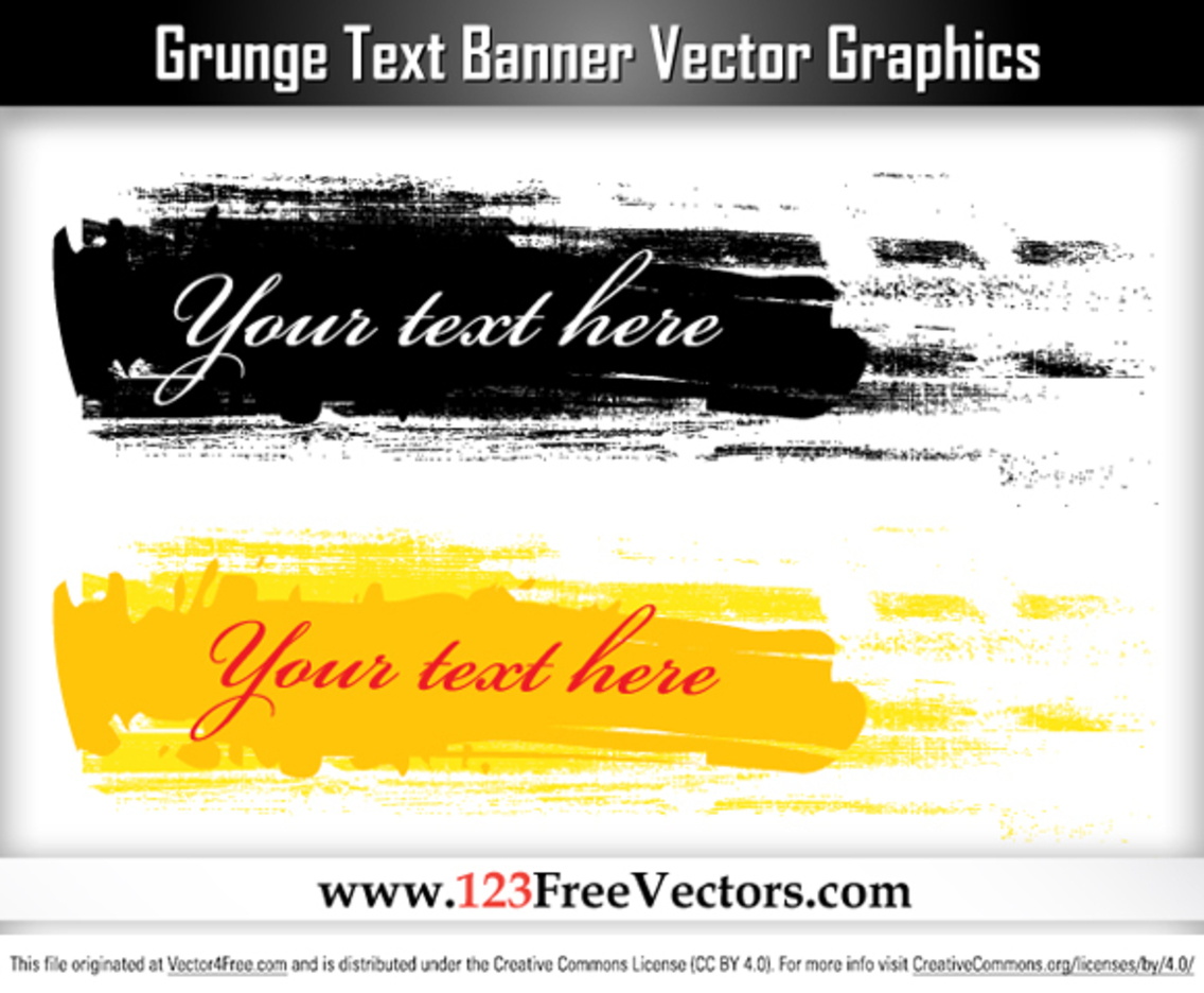 Free Grunge Text Banner Vector Graphics