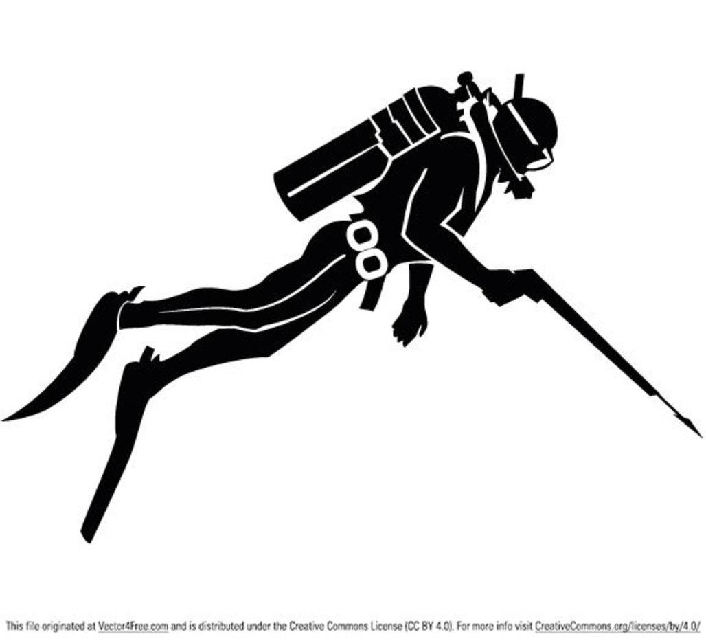 Diver Vector Clip Art