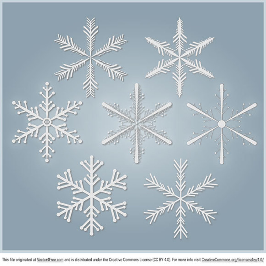 Snowflakes Free Vector