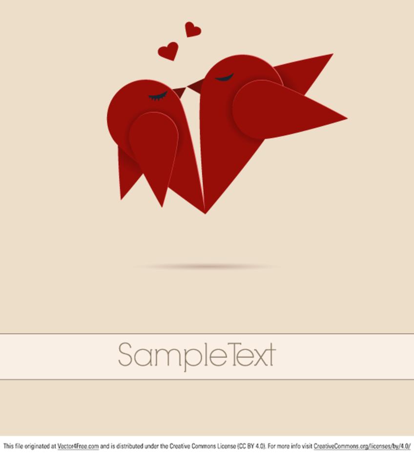 Vector lovebirds