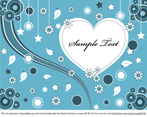 Lovely Valentine Greeting Card Vector