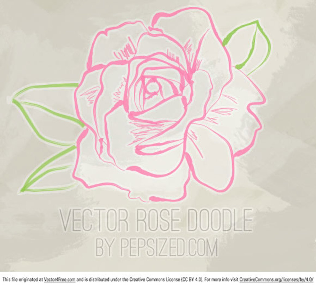 Vector Rose Doodle