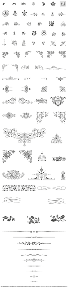85 Free Vintage Vector ornaments