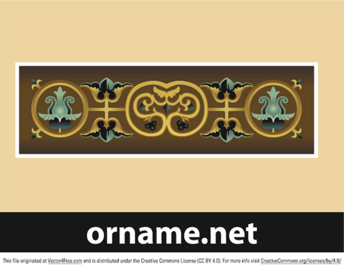 Byzantine ornament in vector