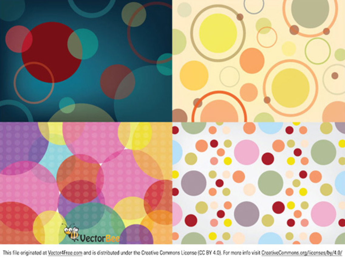 Seamless vector circle patterns