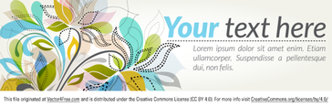 Foral Banner Vector Graphic