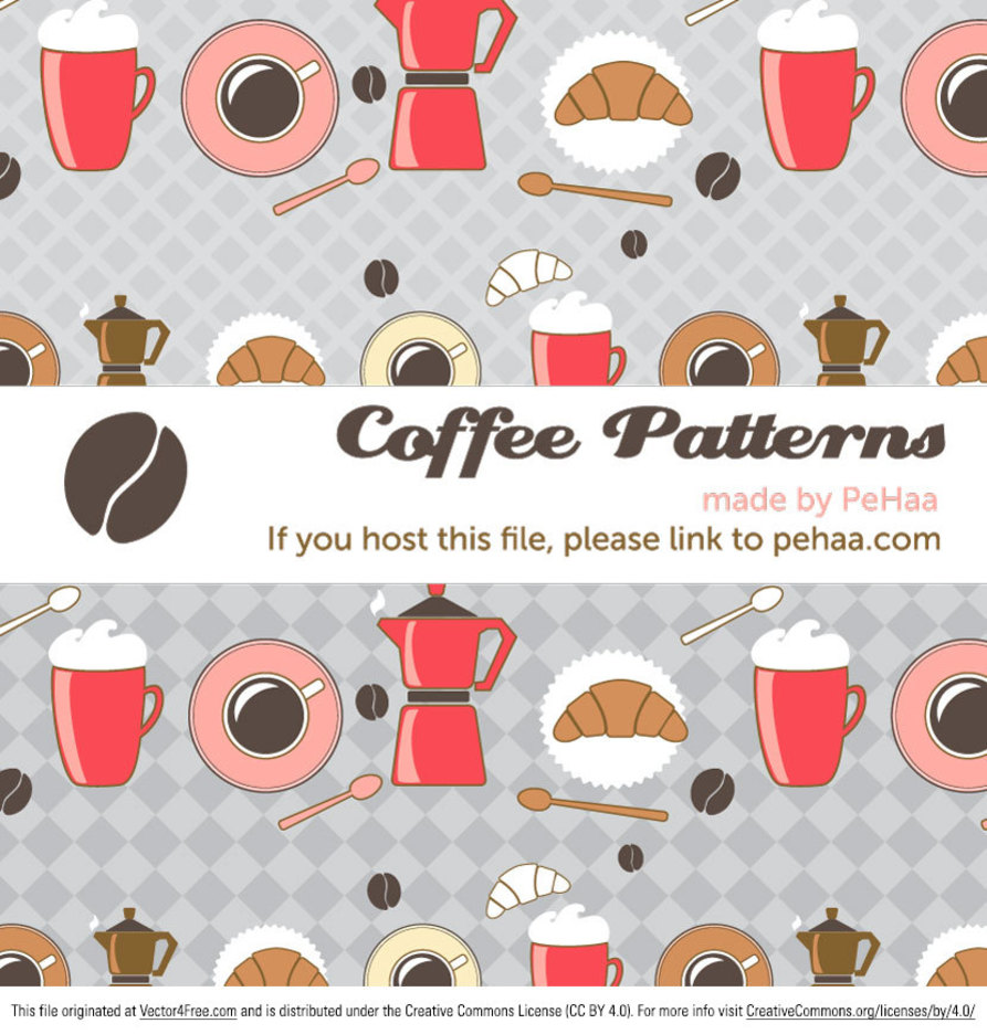Morning Coffee Free Illustrator Patterns
