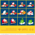 Santa Vector Cartoon Pack