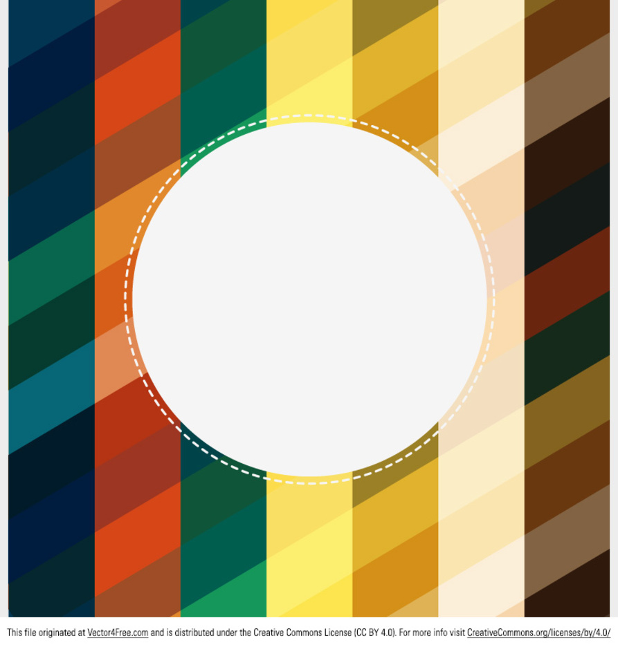 Free Retro Colorful Background Vector