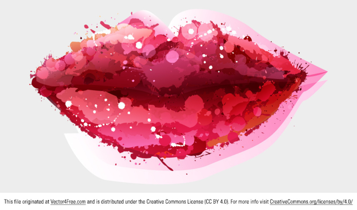 Watercolor Lips Vector